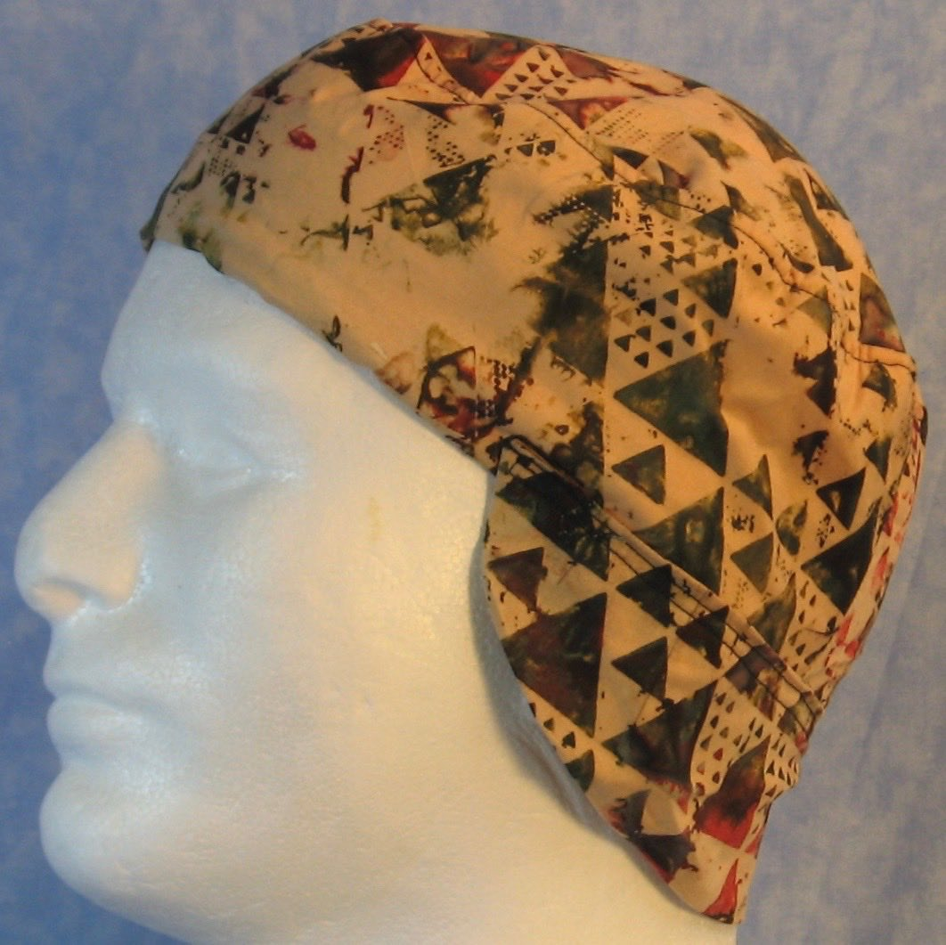 Welding Cap-Green Red Triangle on Kahki-Adult M