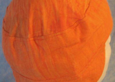 Welding Cap in Orange Sherbert-back top
