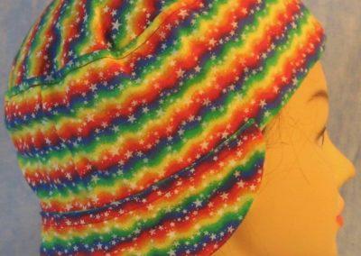 Welding Cap in Rainbow Zigzag Stars-side