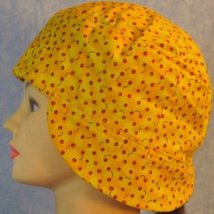Welding Cap in Small Red Apples on Yellow-side