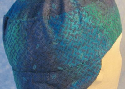 Welding Cap in Turquoise Green Tire Tracks-back