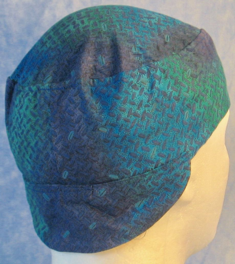 Welding Cap-Turquoise Green Tire Tracks-Adult M