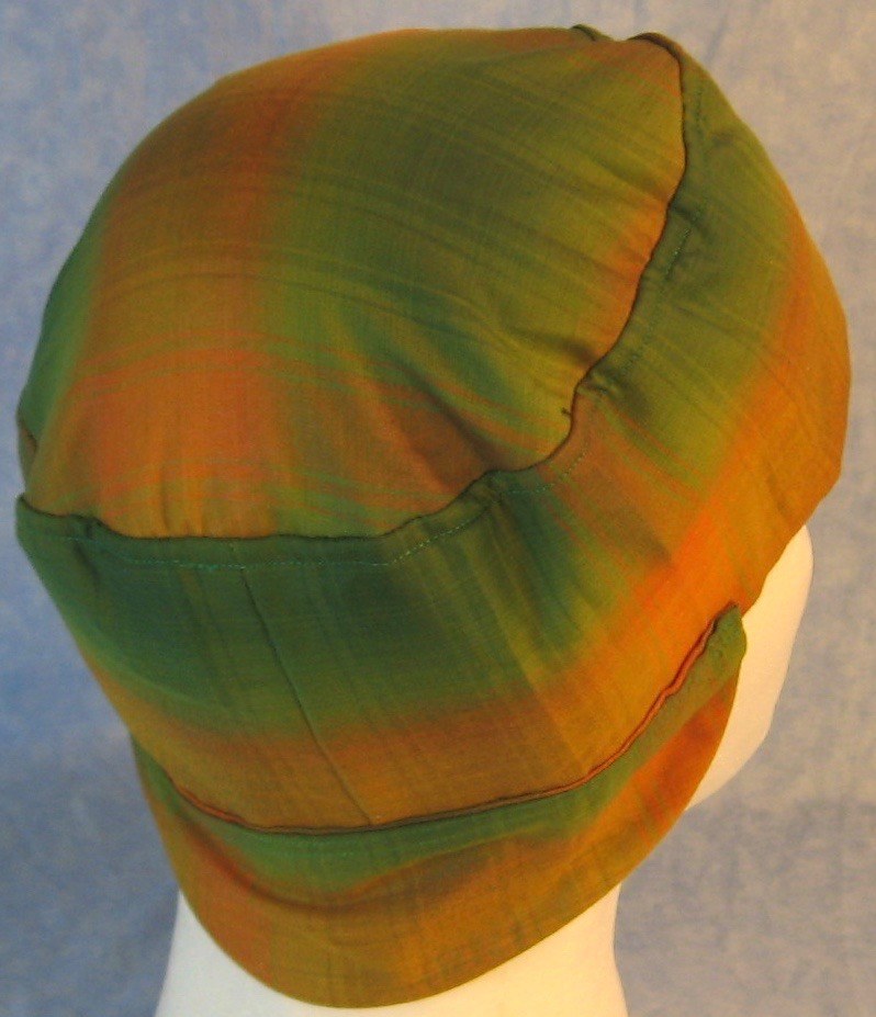 Welding Cap-Yellow Green Plaid Shirting-Adult 1XL