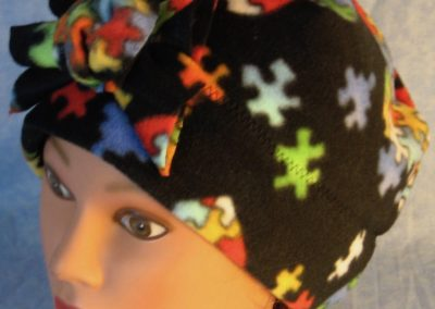 Beanie Flower in Autism Awareness-front top