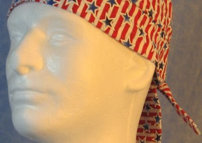 Do Rag in Blue Outlined Stars Red White Stripes With Sparkle-front