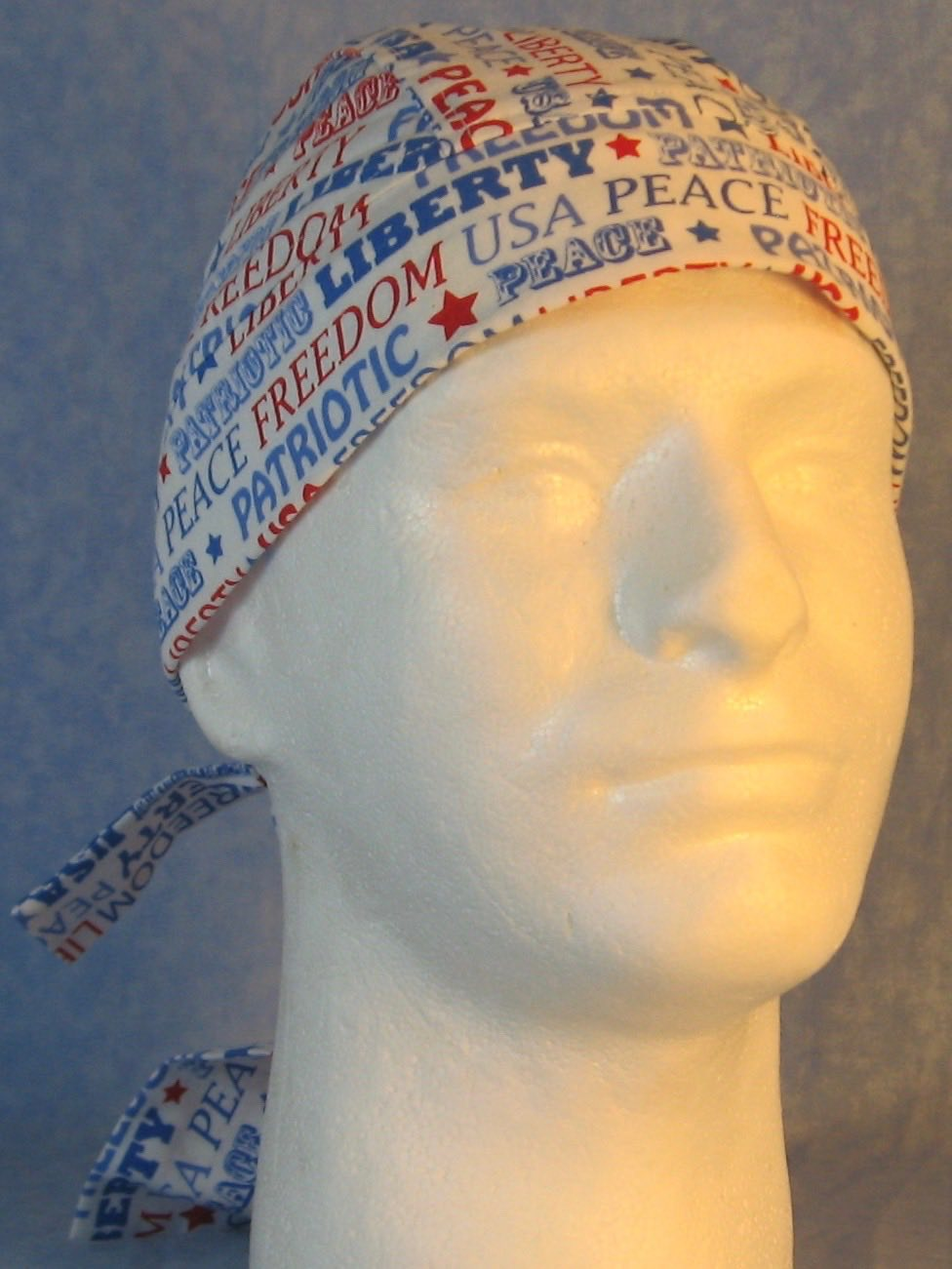 Do Rag-Freedom Liberty Red White Blue Words-front