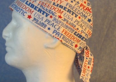 Do Rag in Freedom Liberty Red White Blue Words-left
