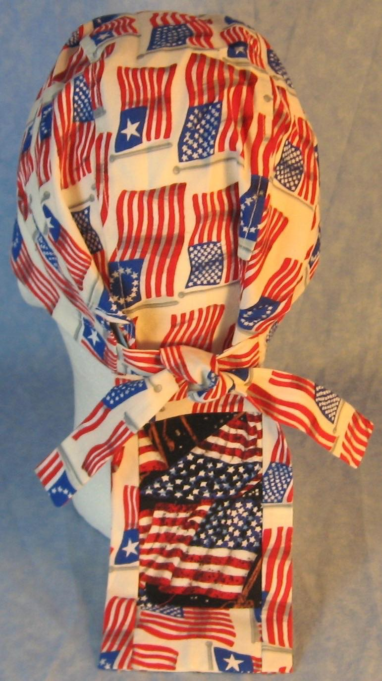 Do Rag-Historic American Flags with Flags in Black Stars Tail-back