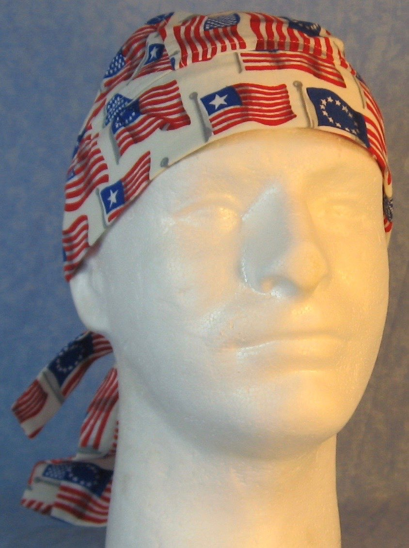 Do Rag-Historic American Flags with Flags in Black Stars Tail-front