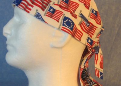 Do Rag in Historic American Flags with Flags in Black Stars Tail-left