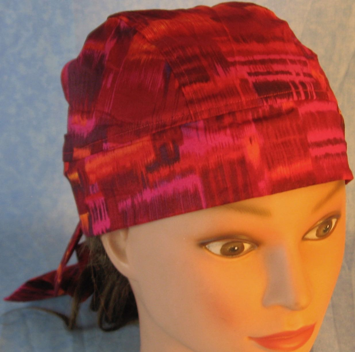 Do Rag-Pink Rose Orange Blocks-front top