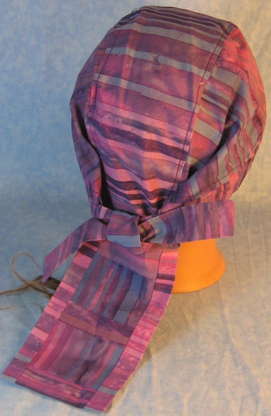 Do Rag-Purple Blue Violet Stripe Dyed-back