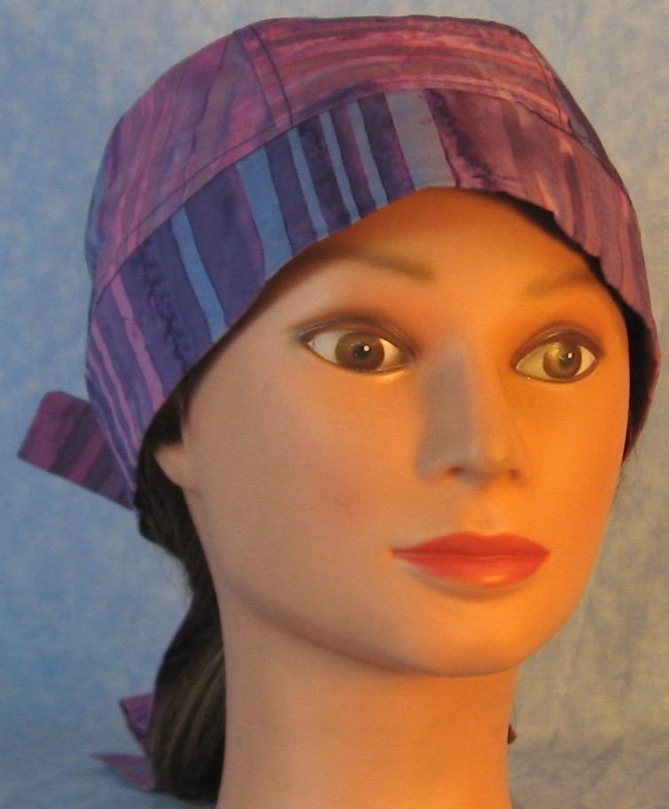 Do Rag-Purple Blue Violet Stripe Dyed-front