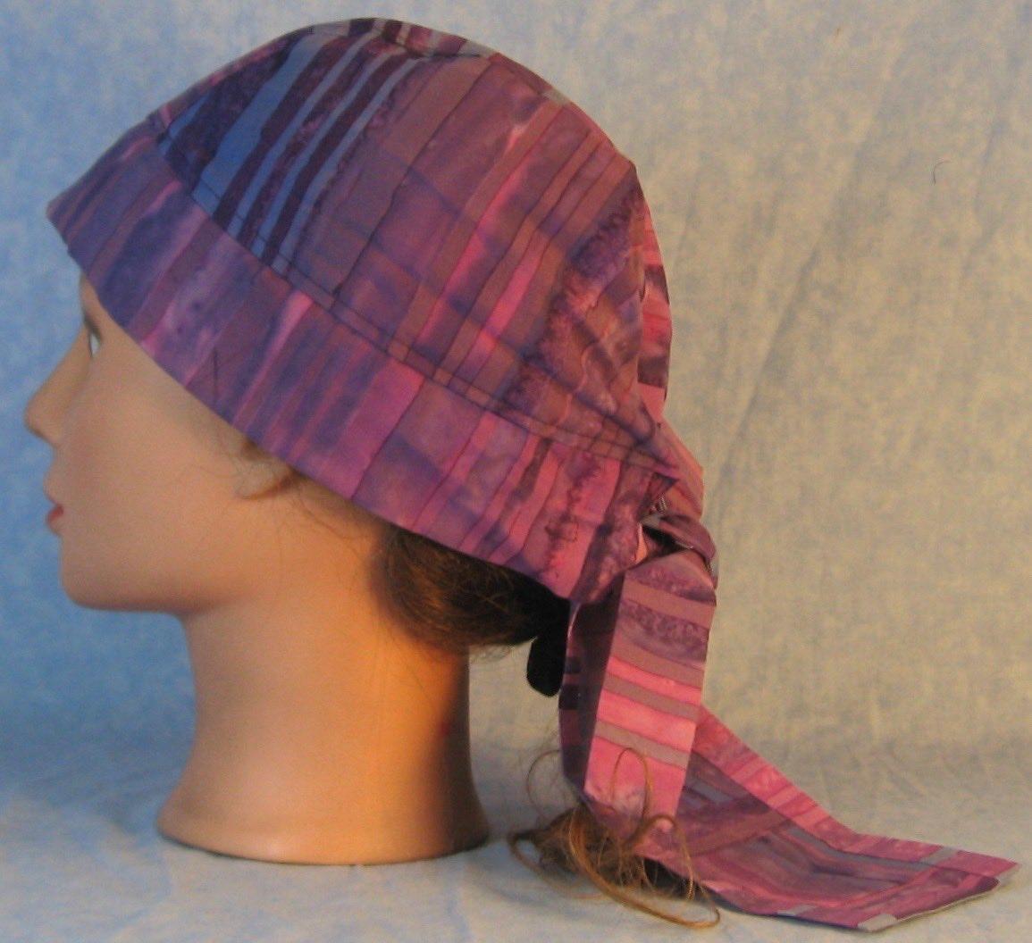 Do Rag-Purple Blue Violet Stripe Dyed-left