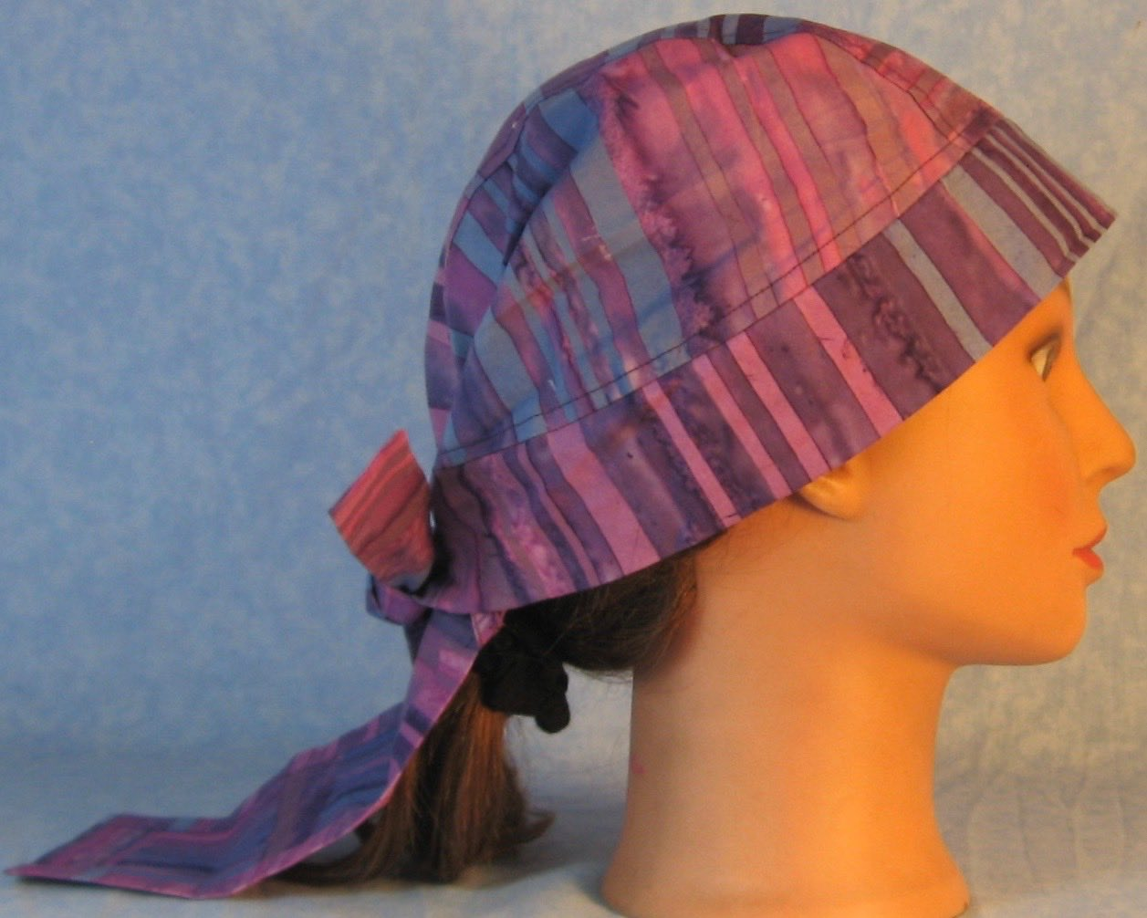 Do Rag in Purple Blue Violet Stripe Dyed-Adult 1XL-3XL