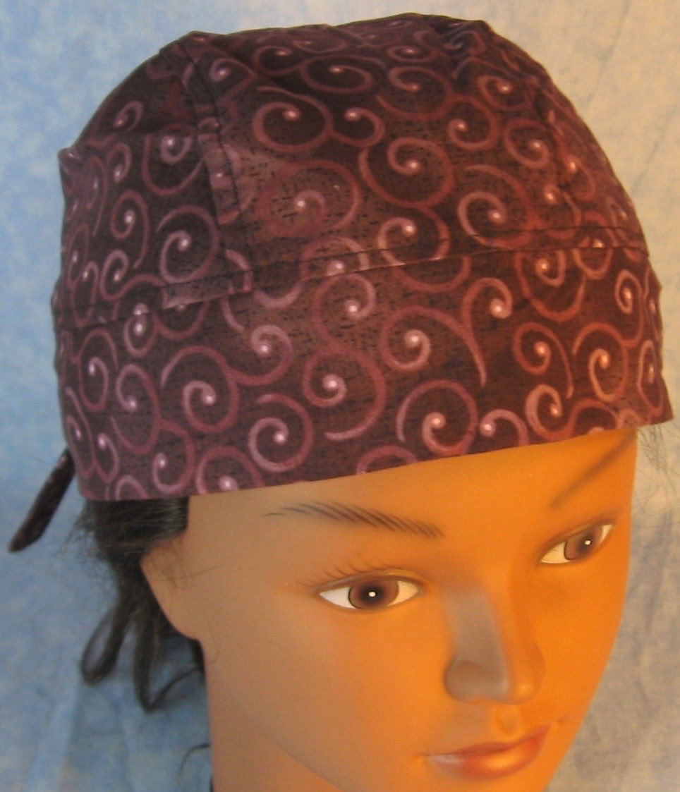 Do Rag-Purple Plum Curls on Plum-front top