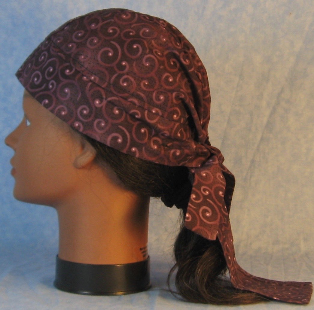 Do Rag in Purple Plum Curls on Plum-Adult M-XL