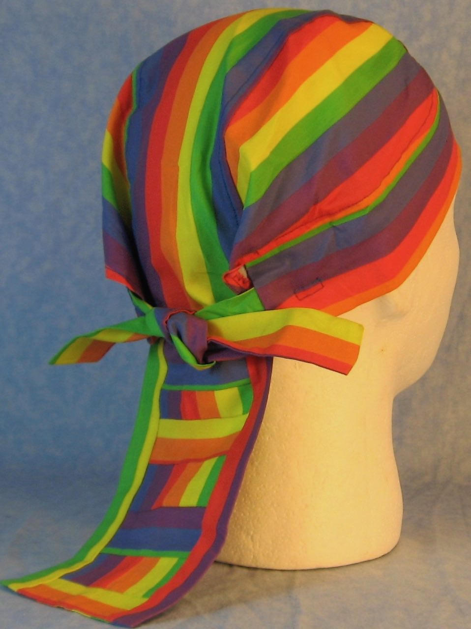 Do Rag-Rainbow Stripe-back