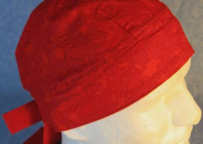 Do Rag in Red Puzzle Doodles-front top