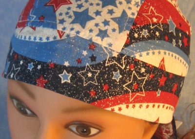 Do Rag in Red White Blue Wave Stars-front