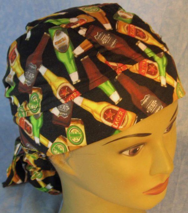 Hair Bag in Beer Bottles on Black-top
