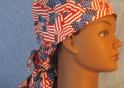 Hair Bag in Flags Overall 2 Blue Colors-right