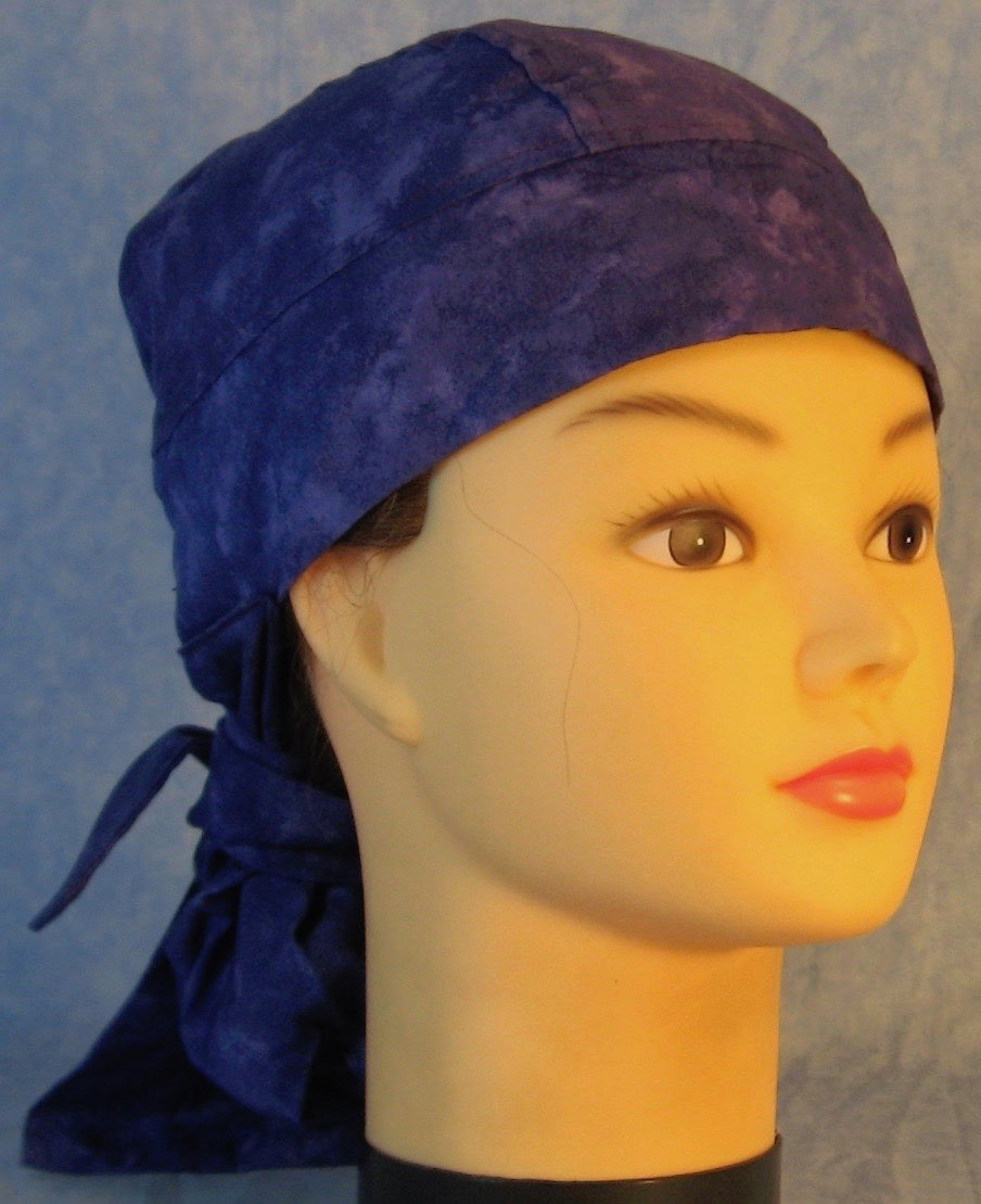 Hair Bag Do Rag in Purple Tonal - Youth L-XL-Adult S