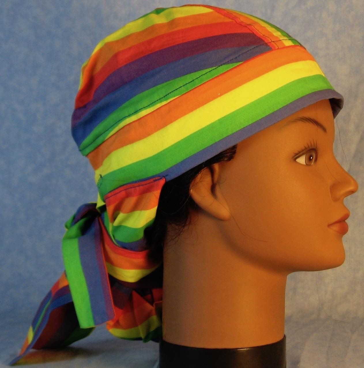 Hair Bag Do Rag in Rainbow Stripe - Adult M-XL