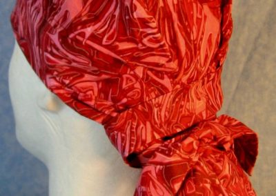 Hair Bag in Red Red Oily-back