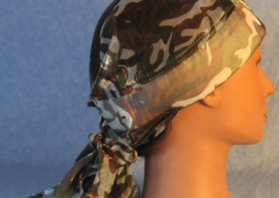 Hair Stocking in Brown Olive Camo Sheer-right