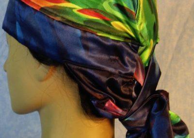 Hair Stocking in Rainbow Raindrop Silk-left