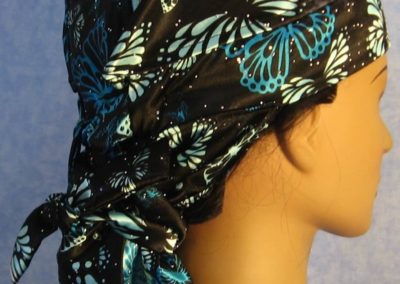 Hair Stocking in Turquoise Butterflies-right