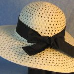 Hat Band in Black Patchwork Nylon-back