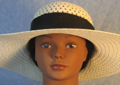 Hat Band in Black Patchwork Nylon-front
