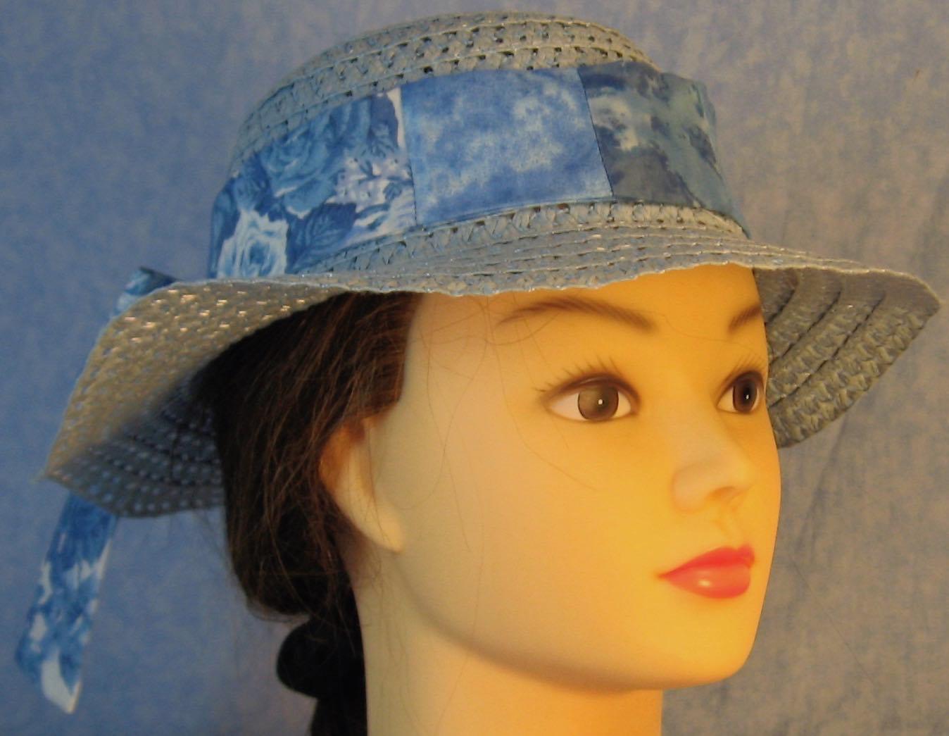 Floppy Hat-Light Blue Paper Braid-2