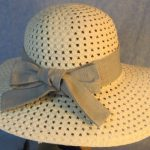 Hat Band in Gray Gray Etched Plaid-back