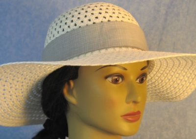 Hat Band in Gray Gray Etched Plaid-front