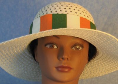 Hat Band in Ireland Flag Stripe-front