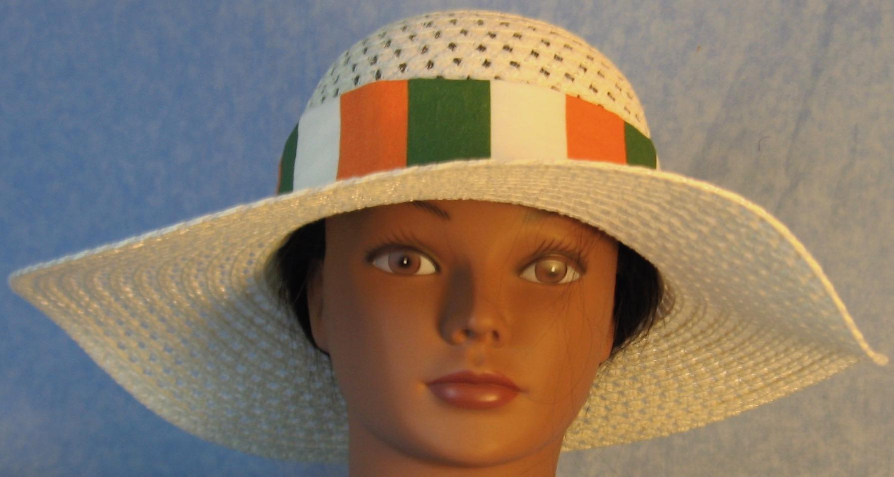 Floppy Hat Band-Ireland Flag Stripe
