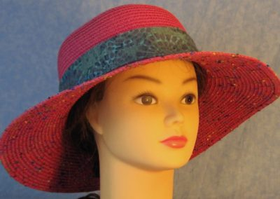Hat Band in Navy Medallion on Motley Green-front