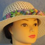 Hat Band in Pastel Colored Cats-front