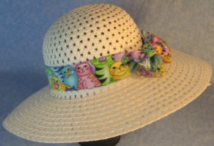 Hat Band in Pastel Colored Cats-right