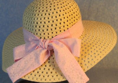 Hat Band in Pink Sheer Flowers Hand Dyed-back