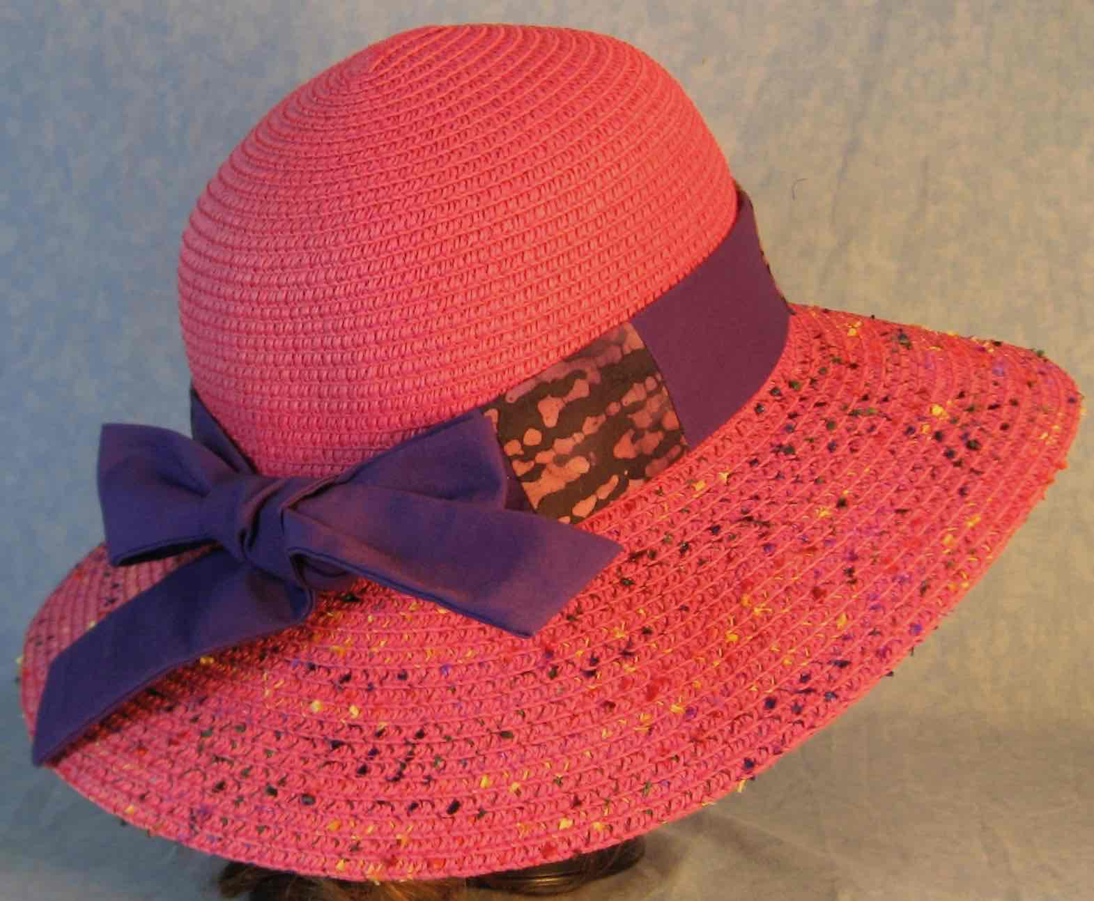Hat Band-Purple Batik Patchwork Purple-back