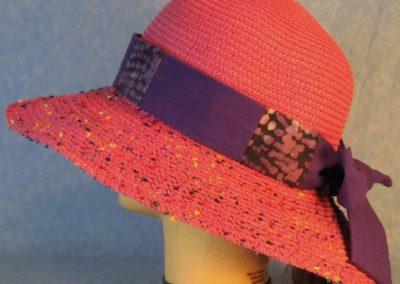 Hat Band in Purple Batik Patchwork Purple-left