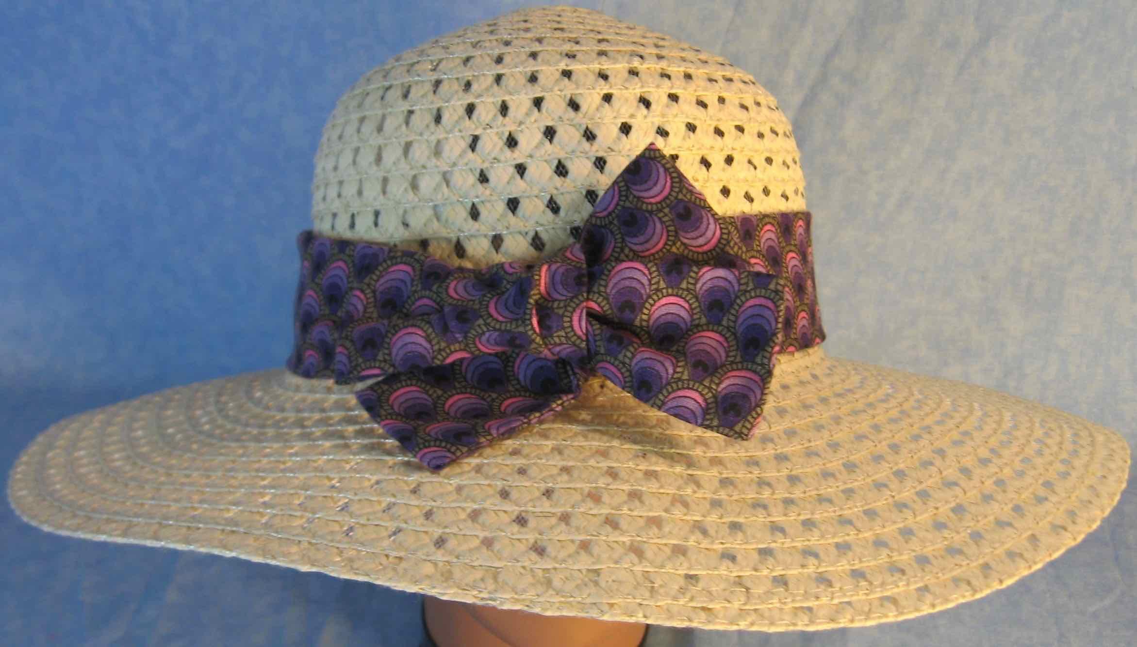 Hat Band-Purple Striped Teardrops-top
