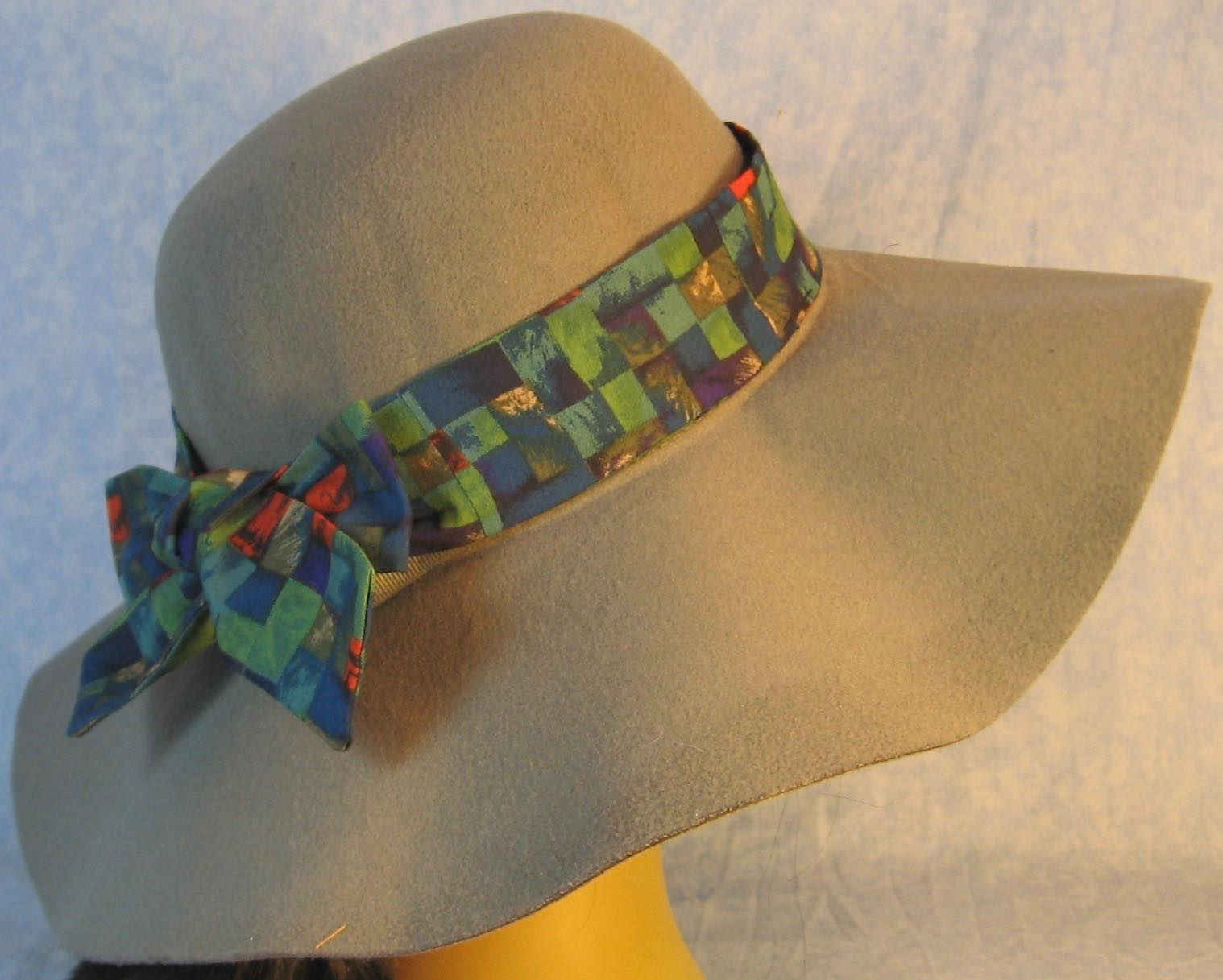 Floppy Hat Band-Red Blue Purple Green Square Basket