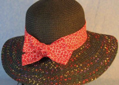 Hat Band in Red Red Stripe With White Line Stars-back