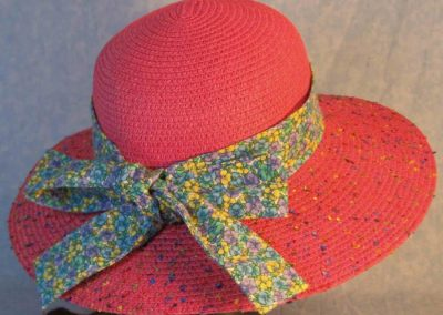Hat Band in Yellow Blue Purple Pansy-back