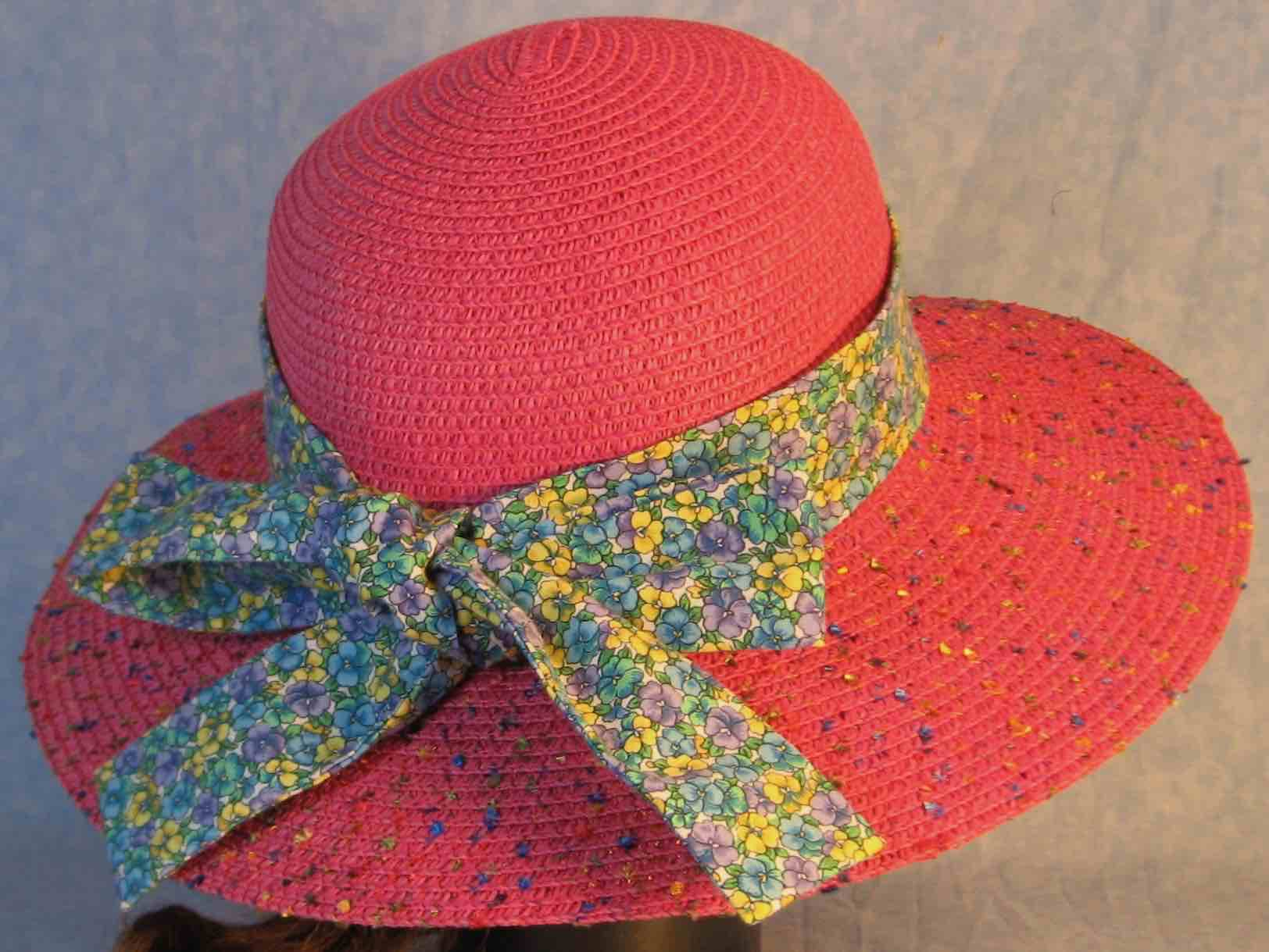 Hat Band-Yellow Blue Purple Pansy-back